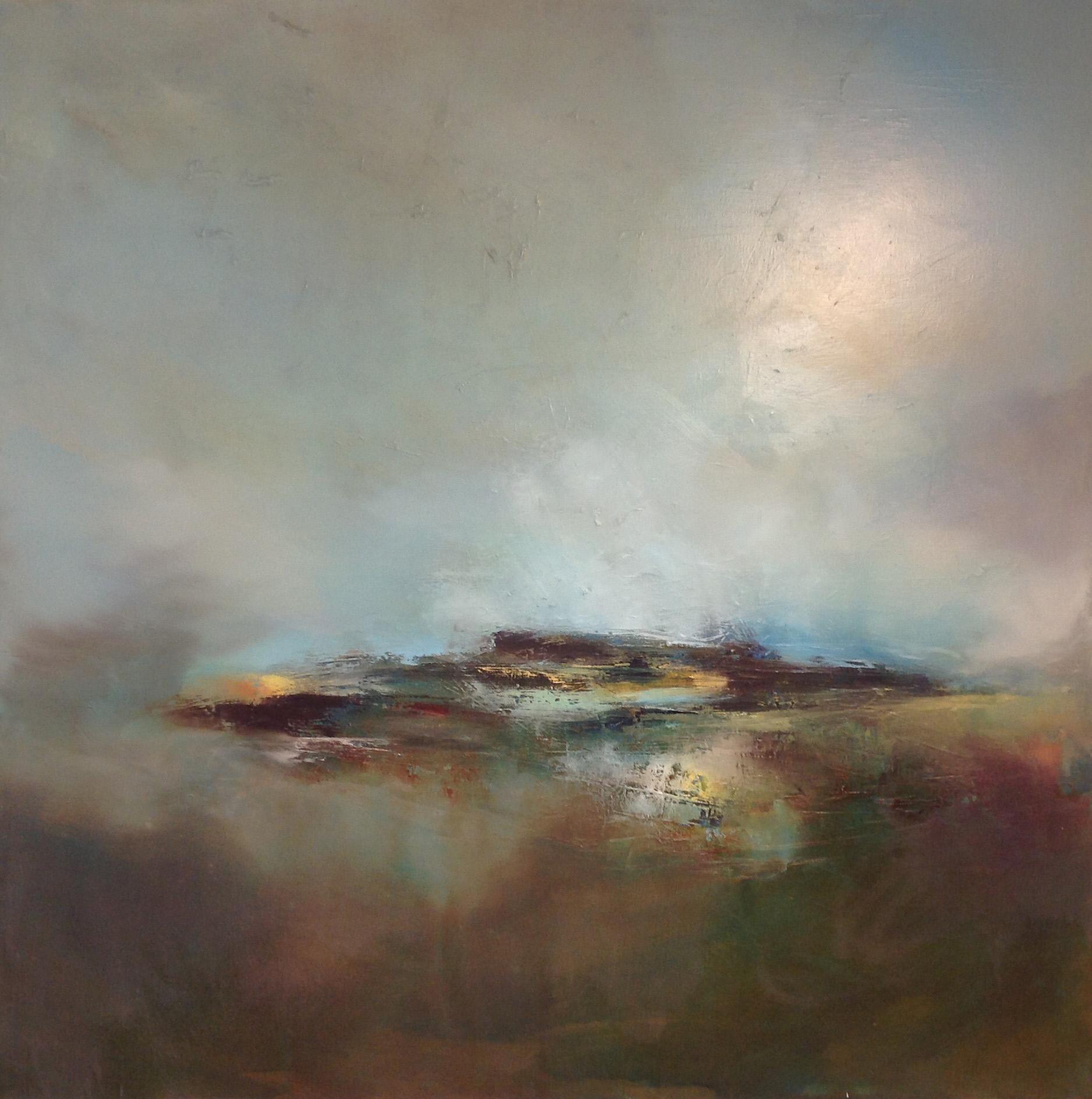 Laura Rich, Downland, oil on linen, 90cms x 90cms HR.jpg