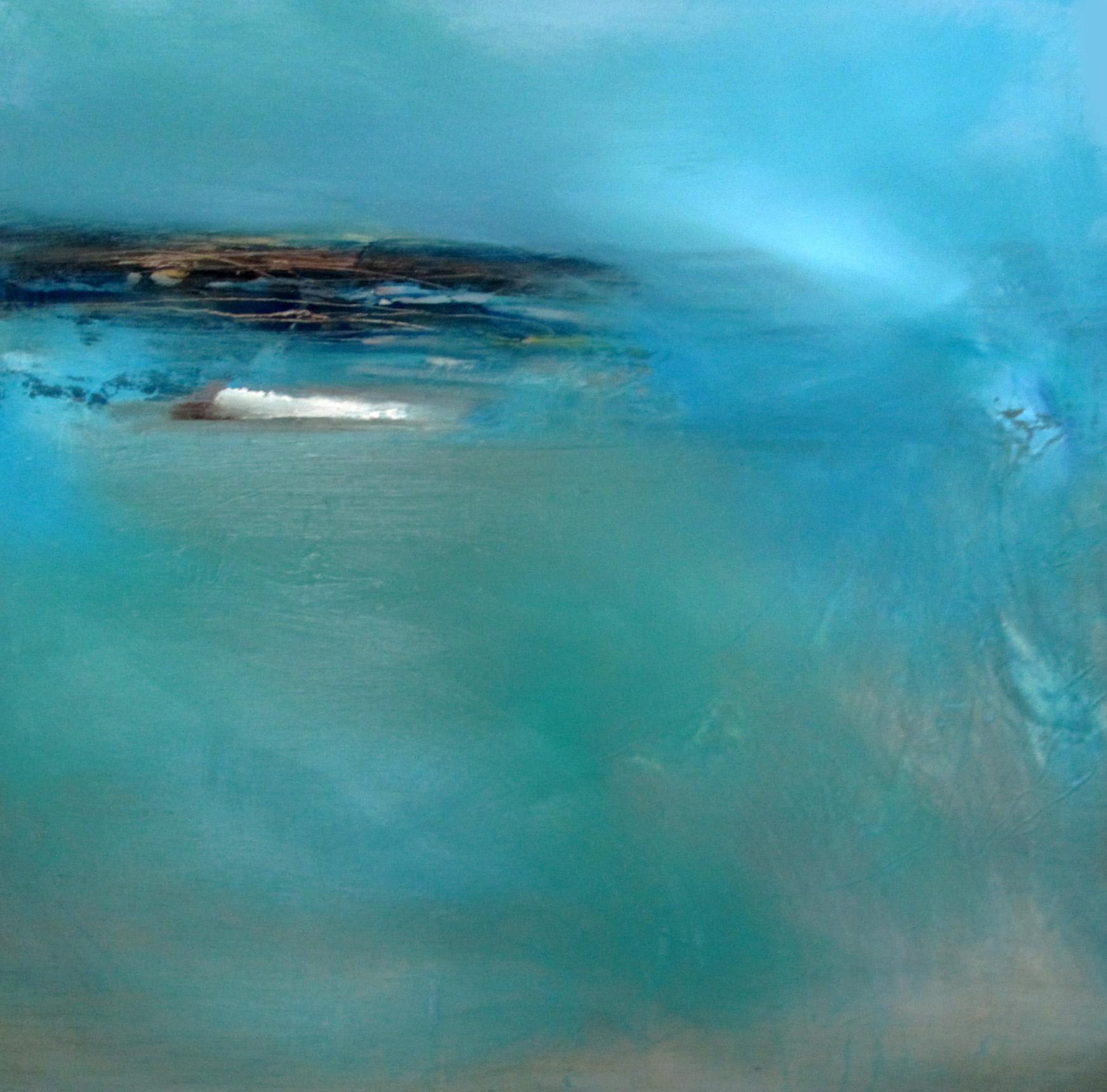 Laura Rich, Blinking into the sun, oil on panel, 45cms x 45cms.jpg