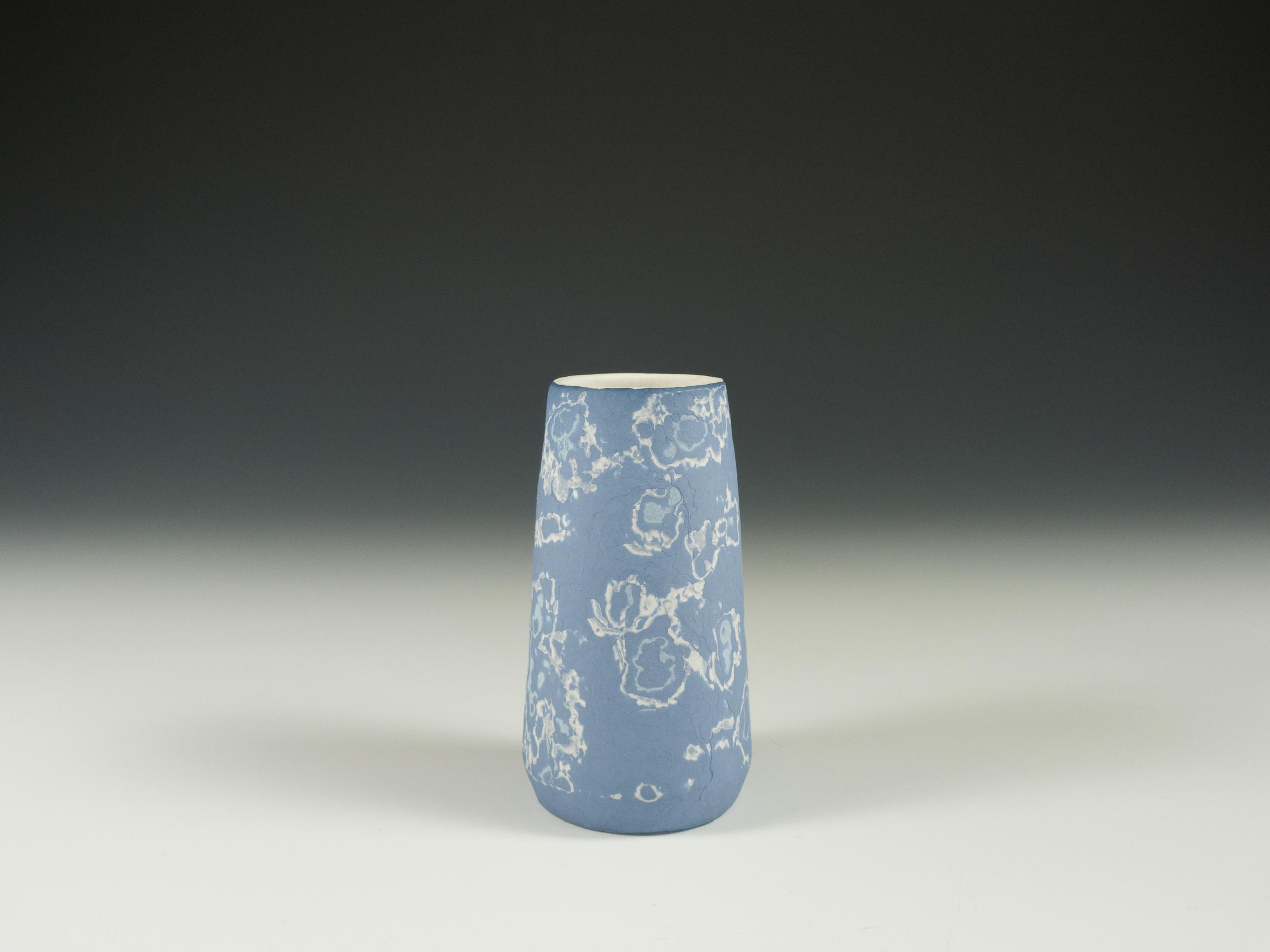 Conical vase - blue - image 2.jpg