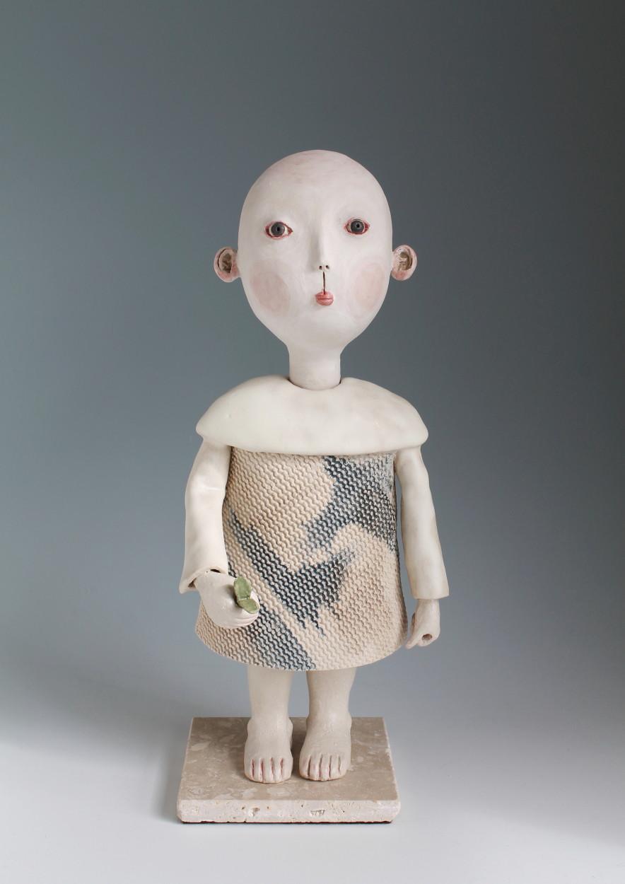 Midori Takaki - Canterbury based Japanese artist hand building divine ceramic sculptures
