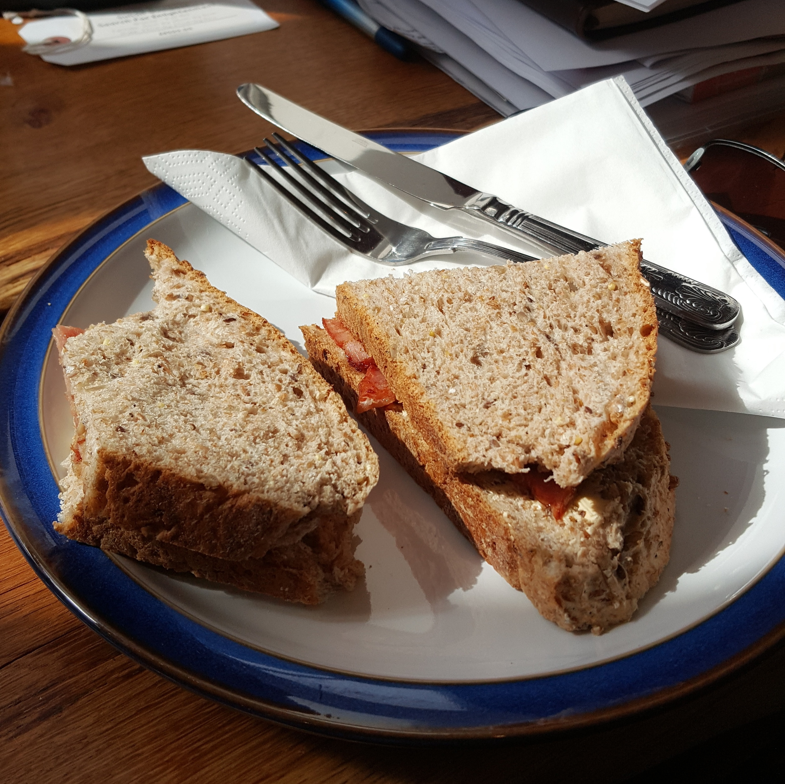 Bacon Sandwich from Fryton Catering Cafe at Nunnignton Studios