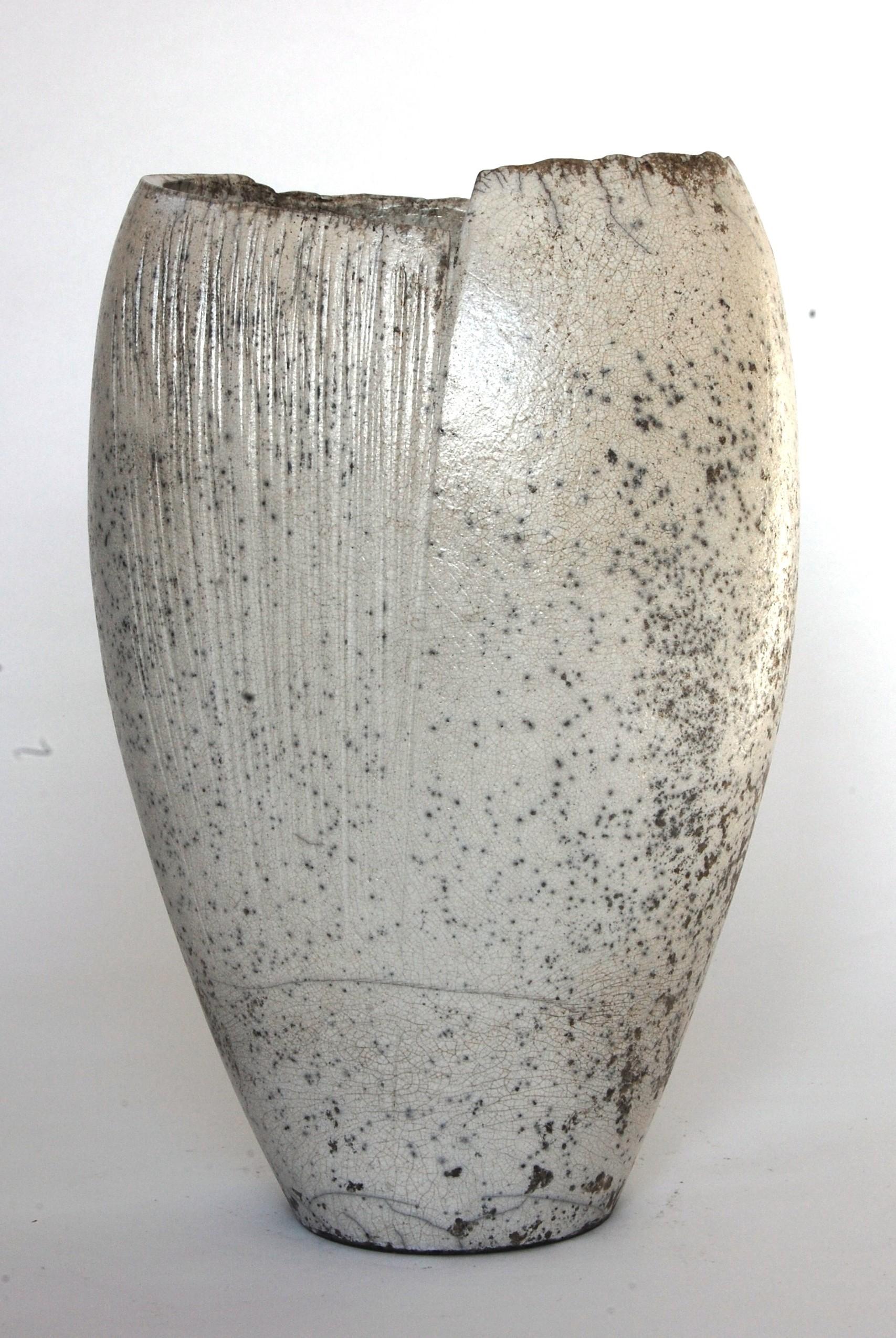 White Textured Vessel - SOLD