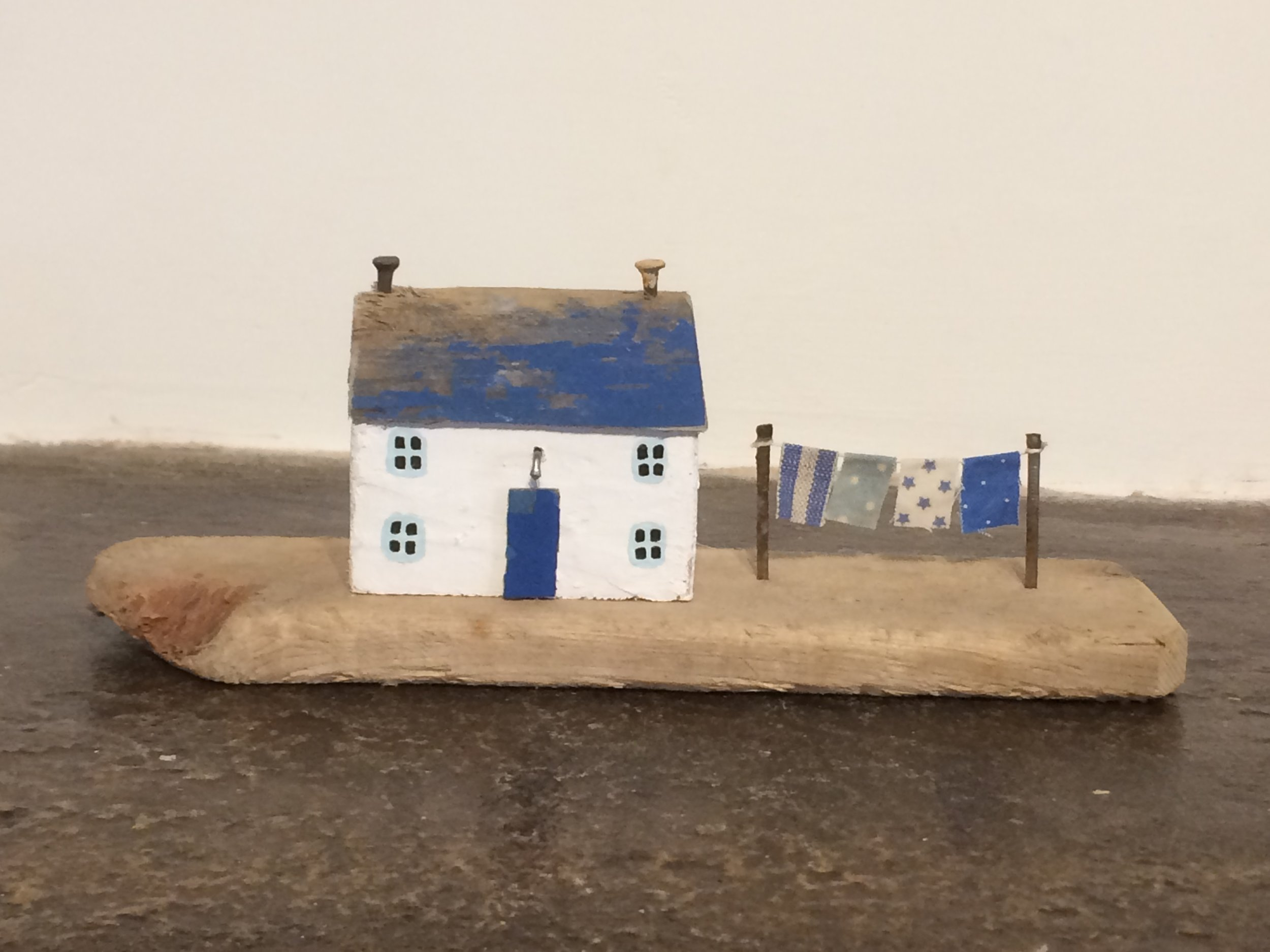 Cottage With Washing Line - SOLD