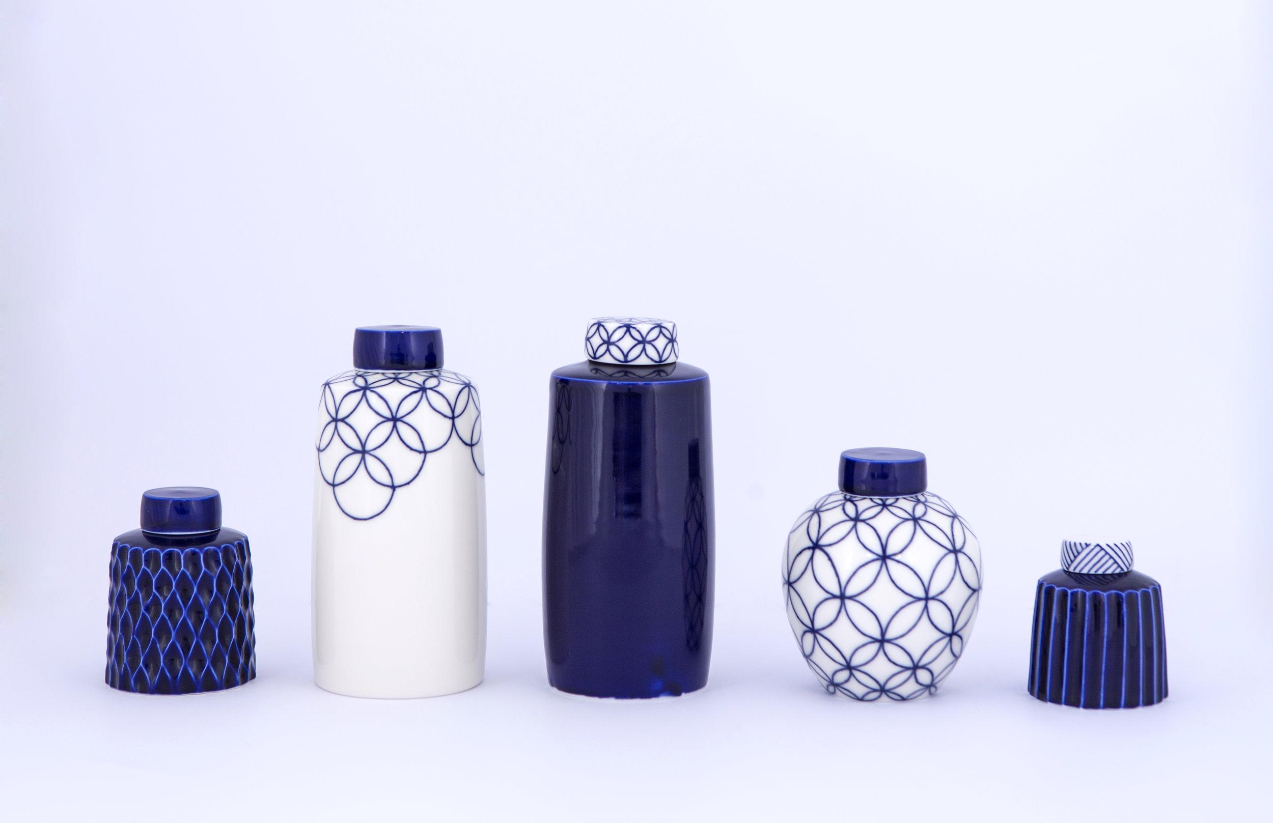 2 Rhian Malin Ceramics 6 ginger Jars, Photo by Lucy Barriball.jpg