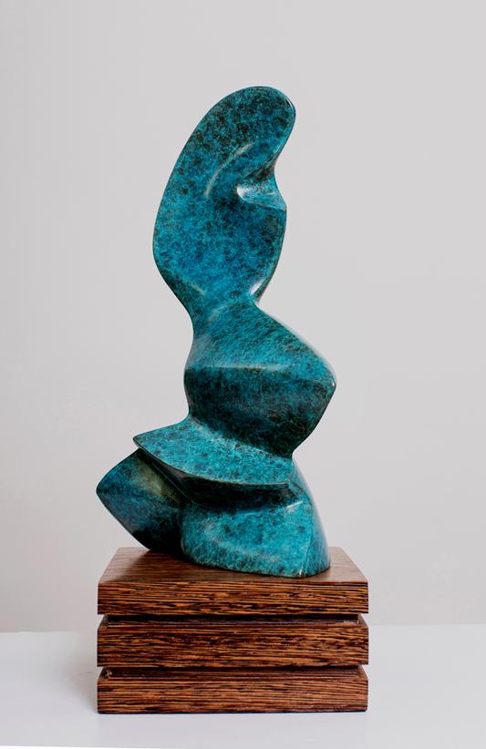 Siren IV - Bronze Sculpture on Wenje Base