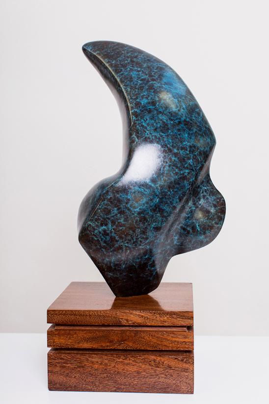 Thrysus - Bronze Sculpture on Mahogany Base