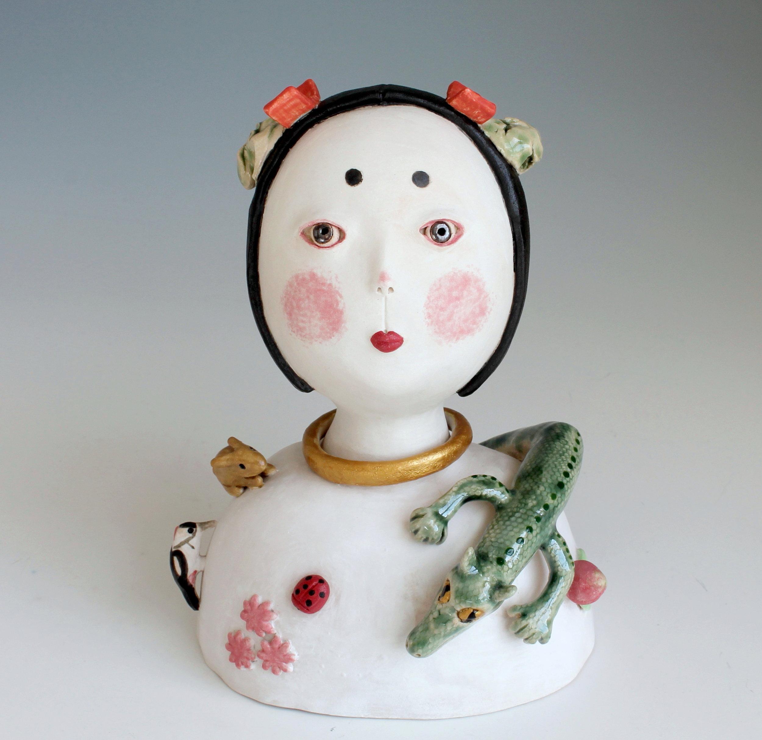 Child In Ancient Japan - Ceramic Sculpture