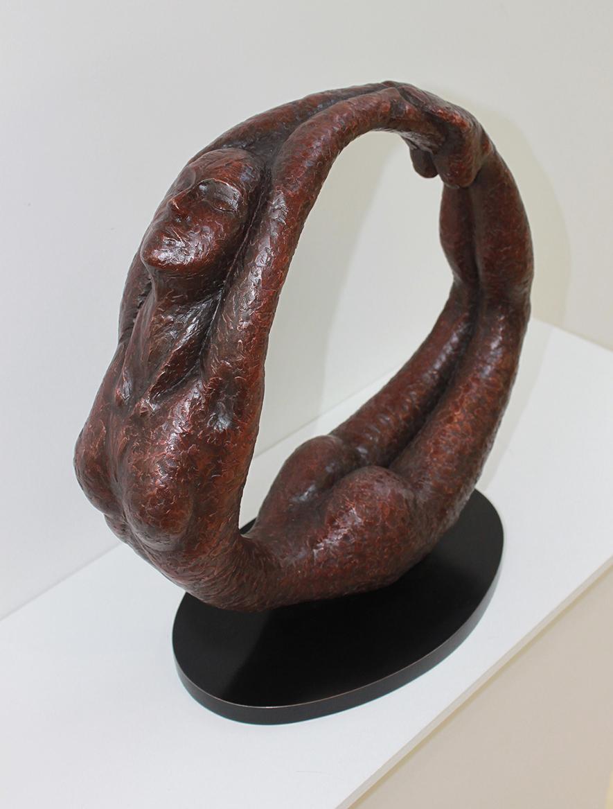 Full Circle - Bronze Sculpture, 1 of 9Claret Patination