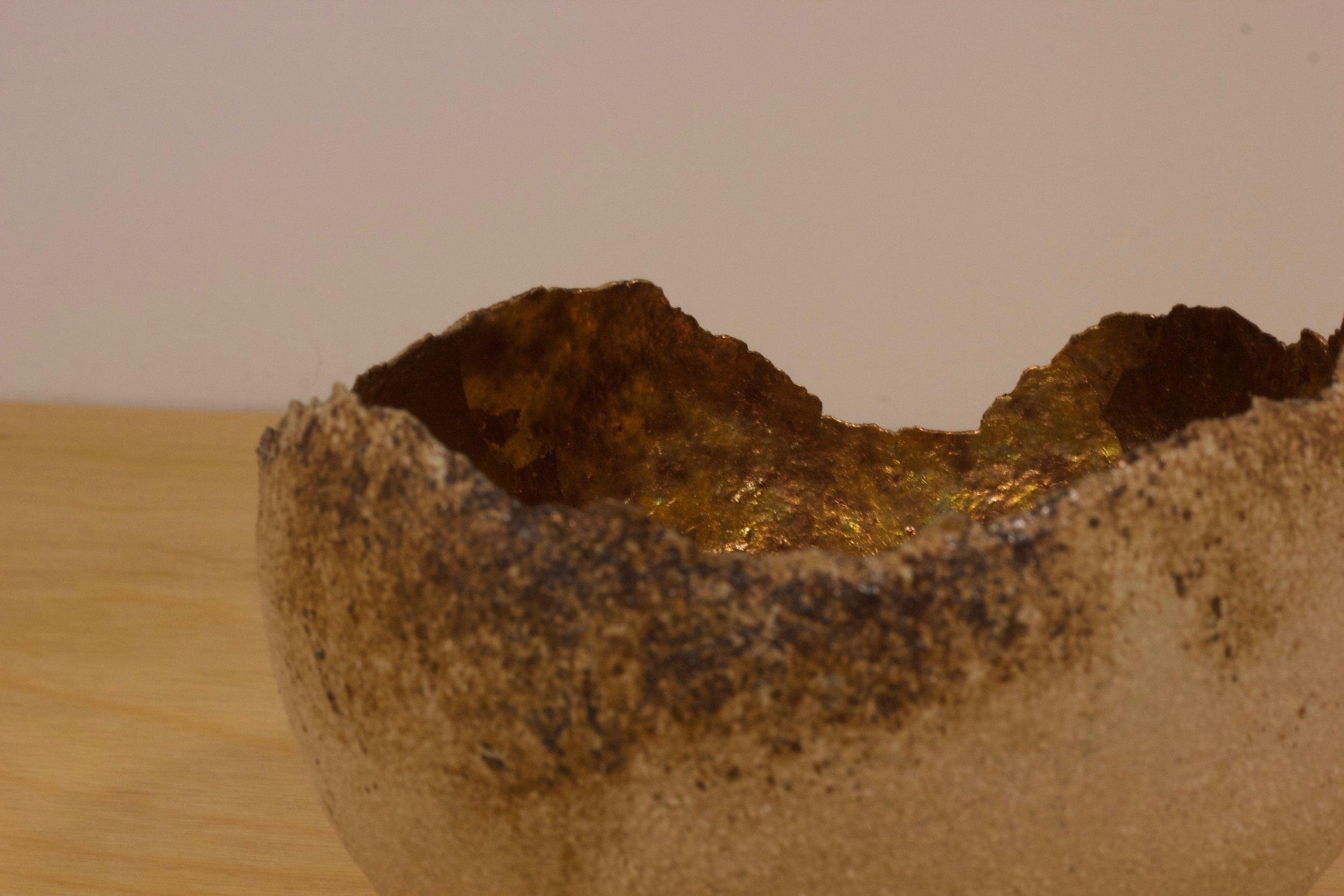 Coniston Slate Gold Leaf Microcosm £105