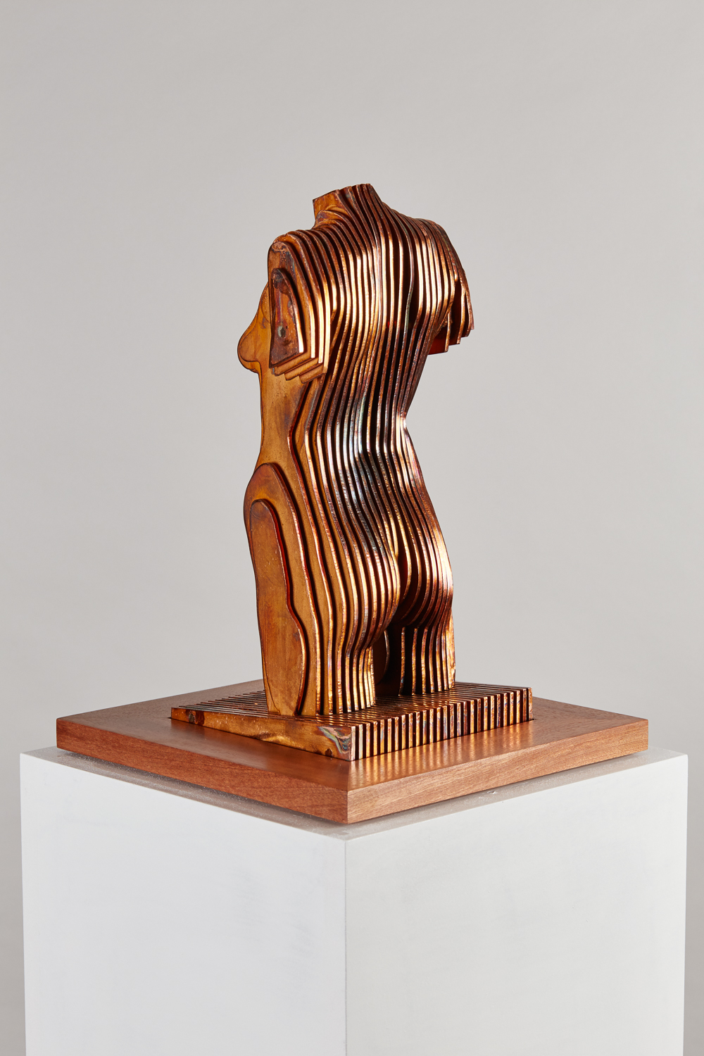 2016 Female Torso V. 35cm x 16cm x 16cm Corten steel; copper plate; Sapele base.jpg