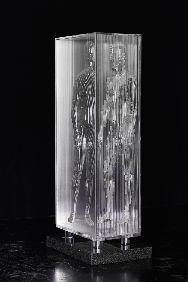 2015 Me IV 52cm x 22cm x 16cm extruded acrylic on granite plinth.jpg