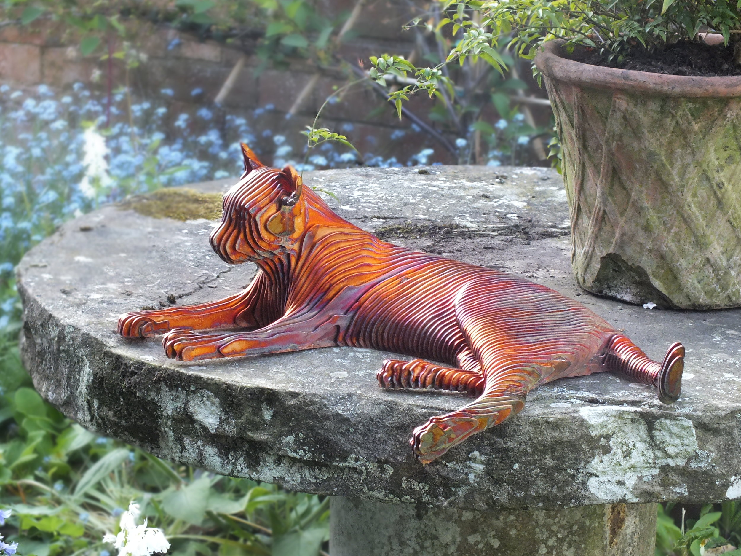 2017 Marmalade 57cm x 36cm x 16cm mild steel with copper plate.JPG