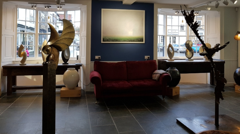 Michael Thacker, Paul Harvey, Philip Wakeham, Albert Montserrat and Jane Rist with lighting in the right corner by Katie Robinson - from £350 to £19,500
