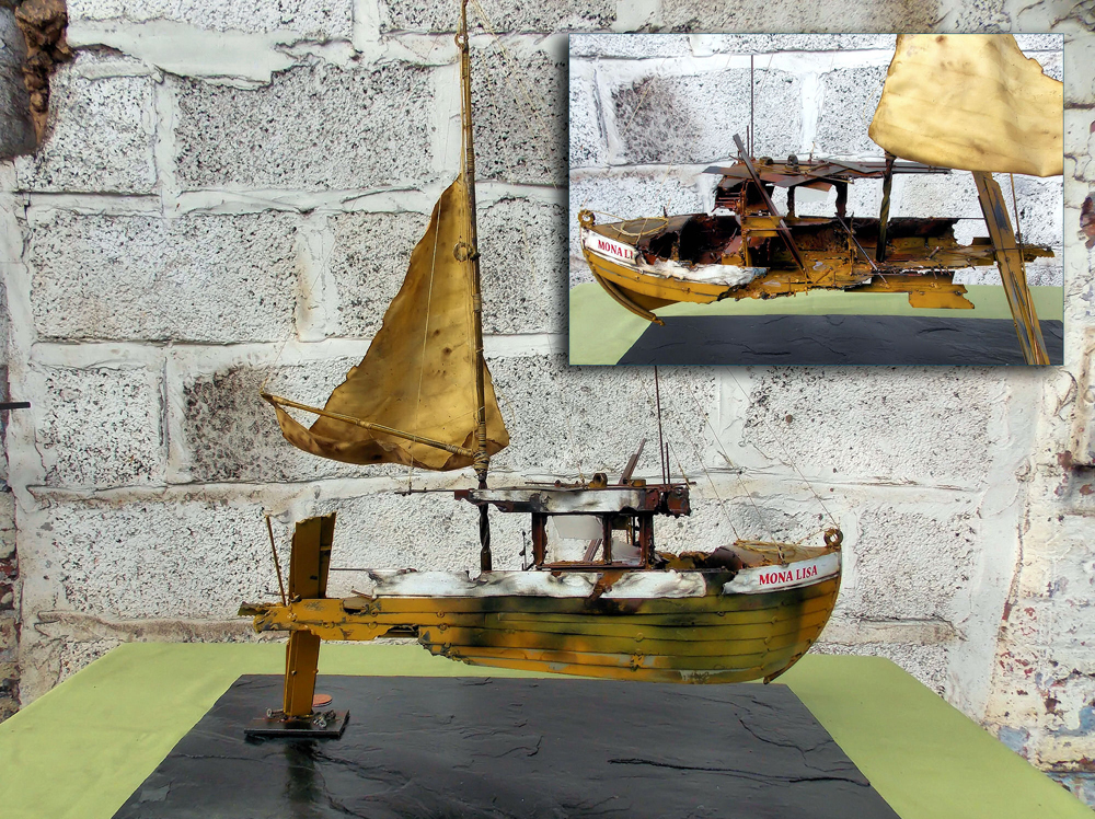Darrell Evanes - Recycled Material Sculpture - £850 to £1850