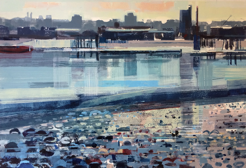 Across The Water, The Thames IV - SOLD