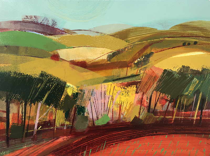 Jane Human joins the gallery with 8 new works in a variety of sizes. We love her use of an old school printing press with oil paints that create stunning vibrant works on paper.