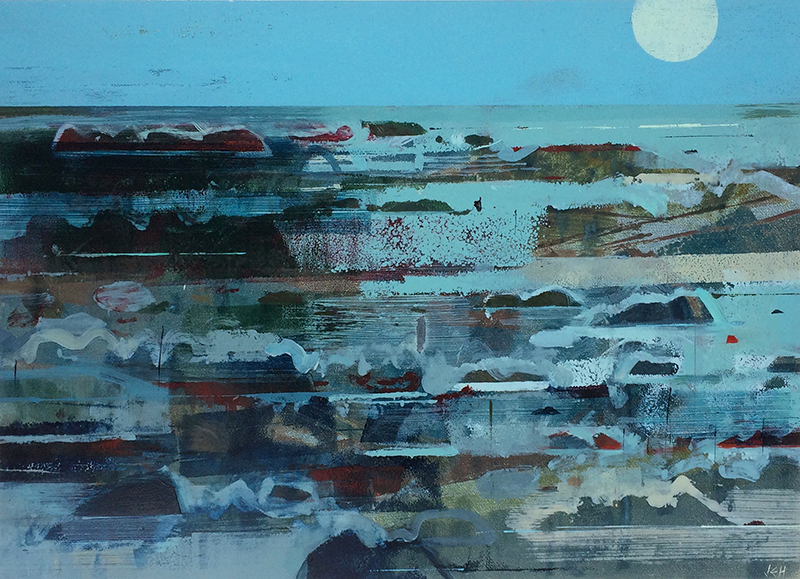 KINTYRE MOONSHINE - OIL ON PAPER£1100
