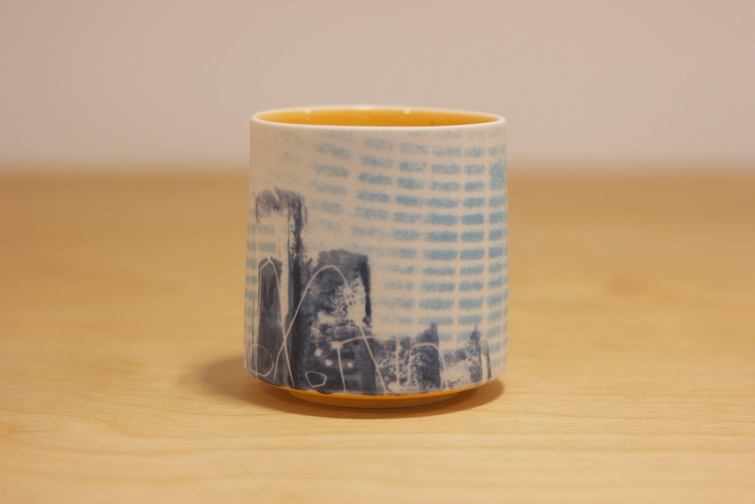 CM010 Yunomi Blue and Orange