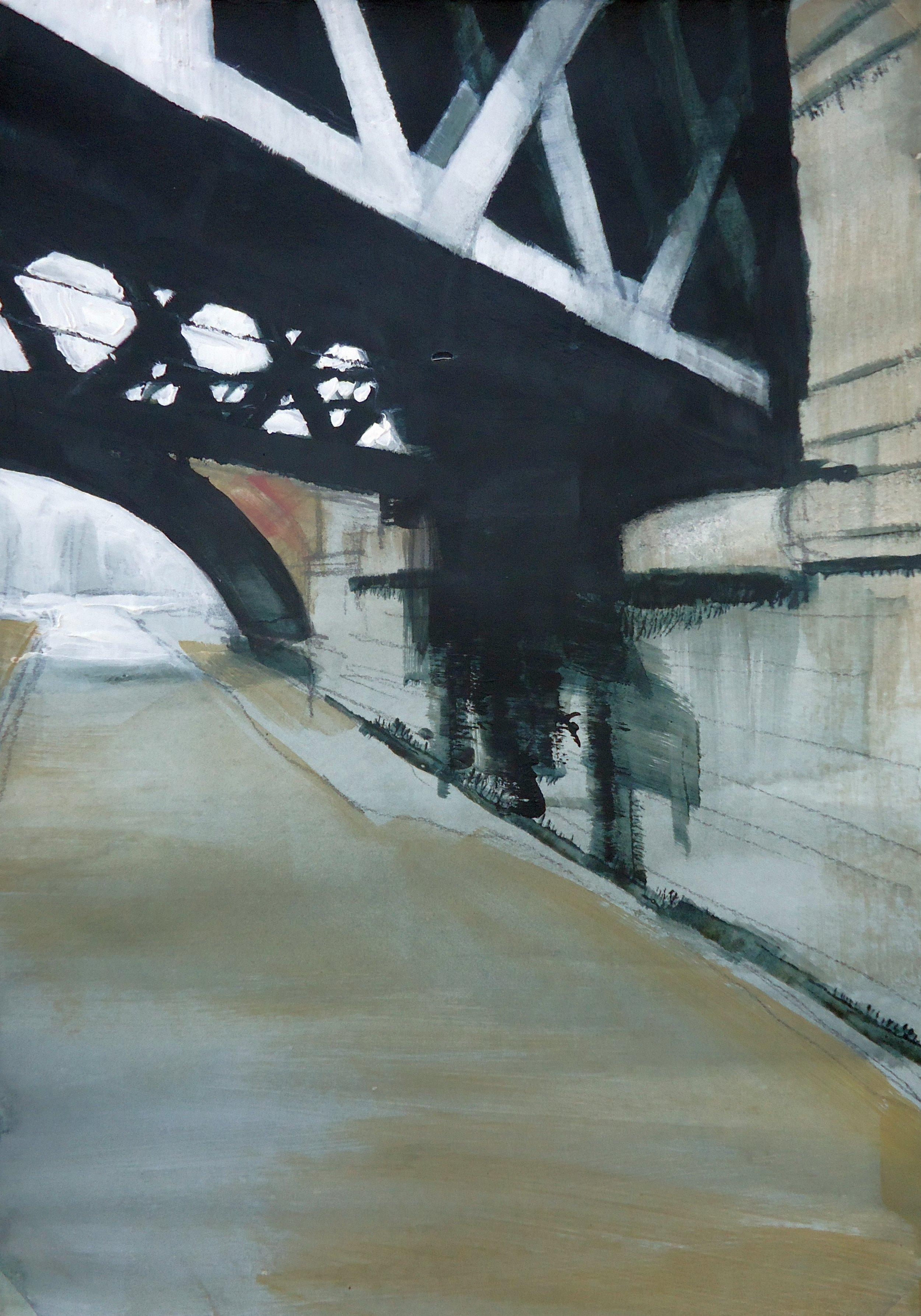 'Bridges, River Esk' 30x20cm.jpg
