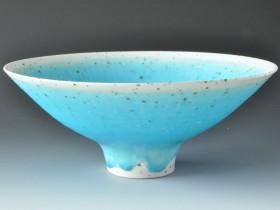 Grogged porcelain 28cms dia. .JPG
