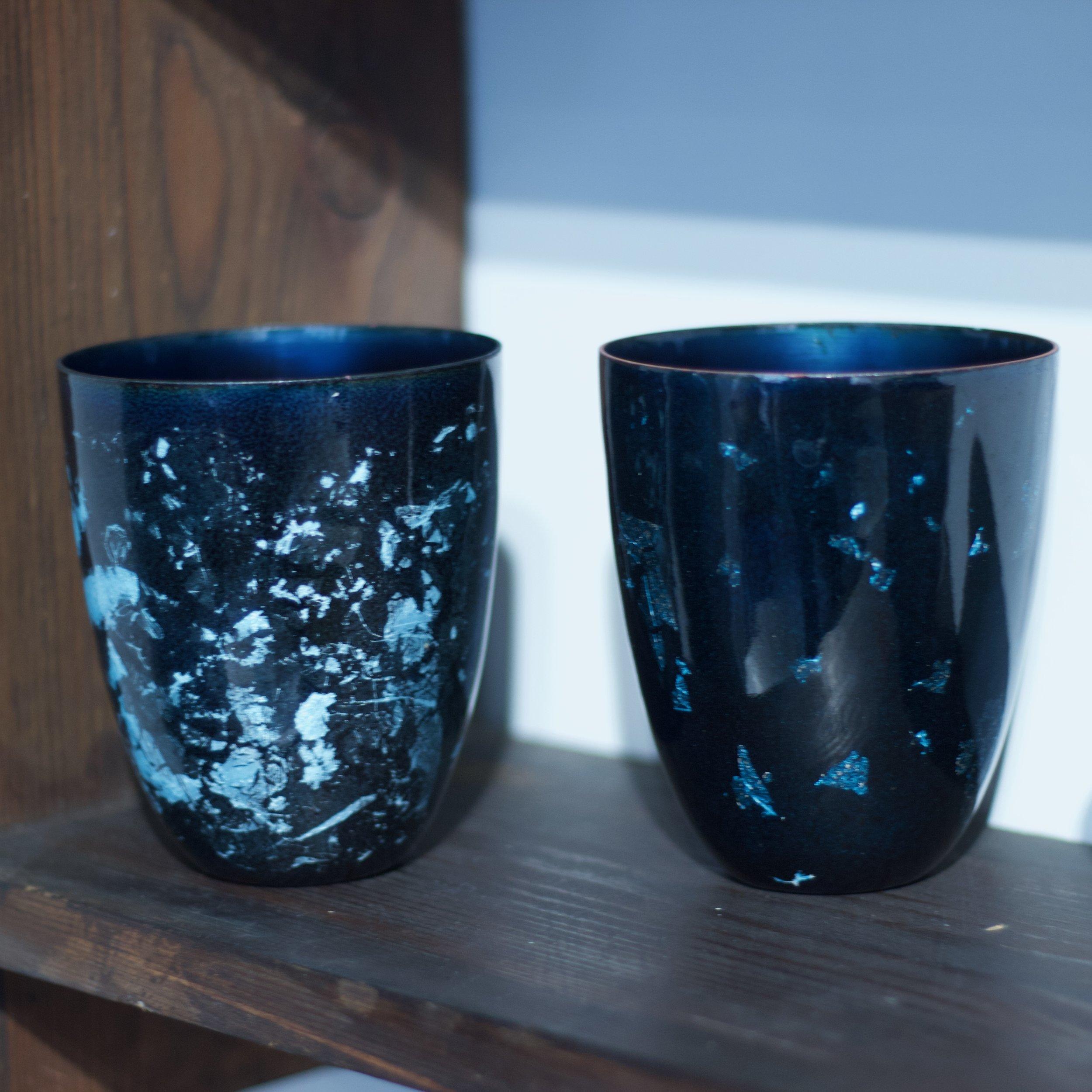 Glazzard Lundsten - Enamelled Copper Cups