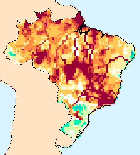 Composite water anomaly index   map for Brazil  Dec 2014-Nov 2015.