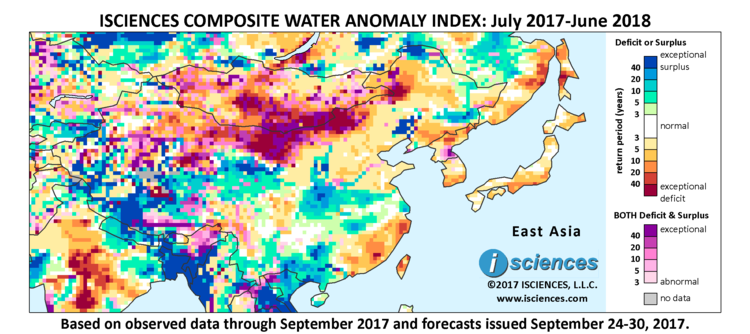 Map Of East Asia Yangtze River.East Asia Vast Surpluses Forecast For Upper Middle Yangtze Esp