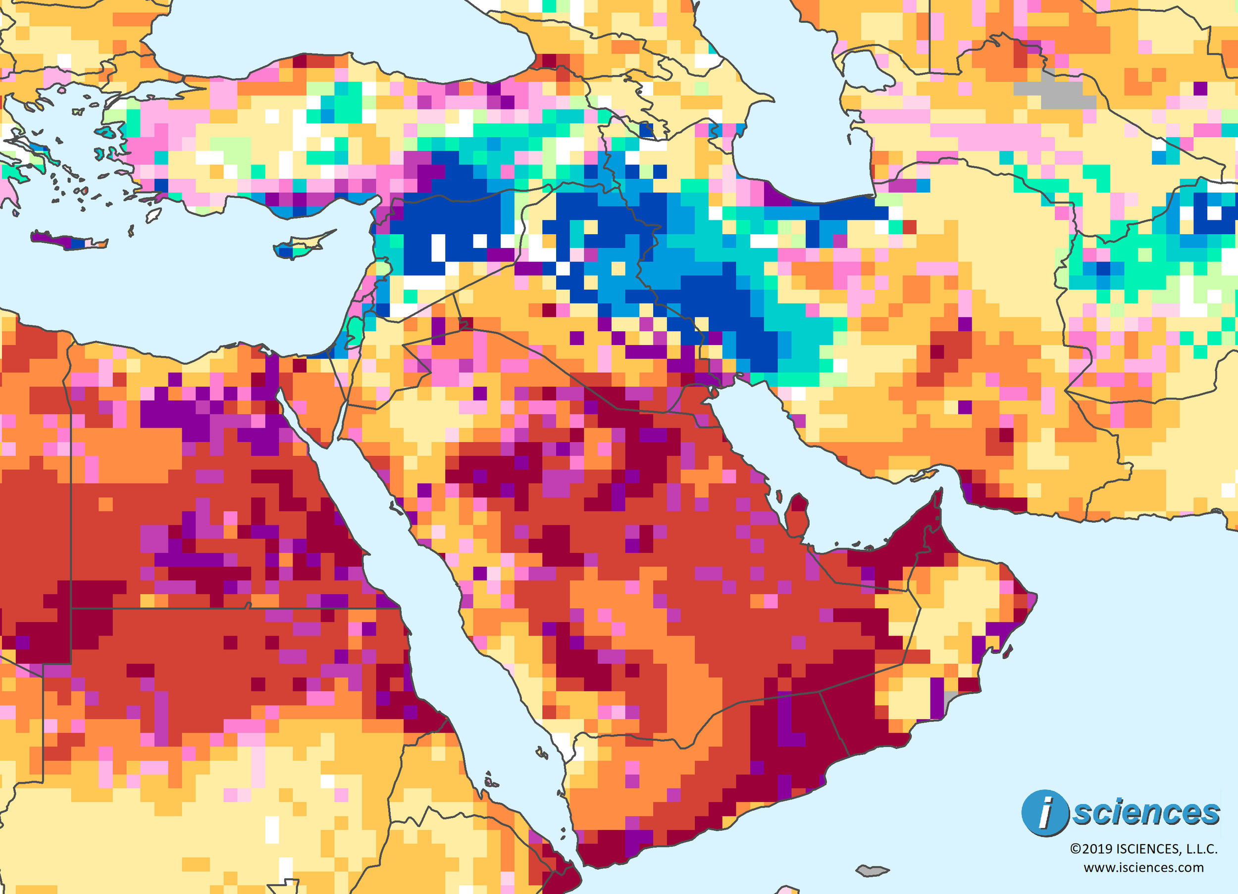 Image of: Middle East Intense Water Deficits Forecast For Kuwait Nearby Regions Isciences