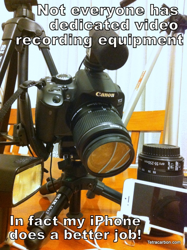 Most educators can't afford their own dedicated video recording equipment, but your iPhone probably does a better job anyway.
