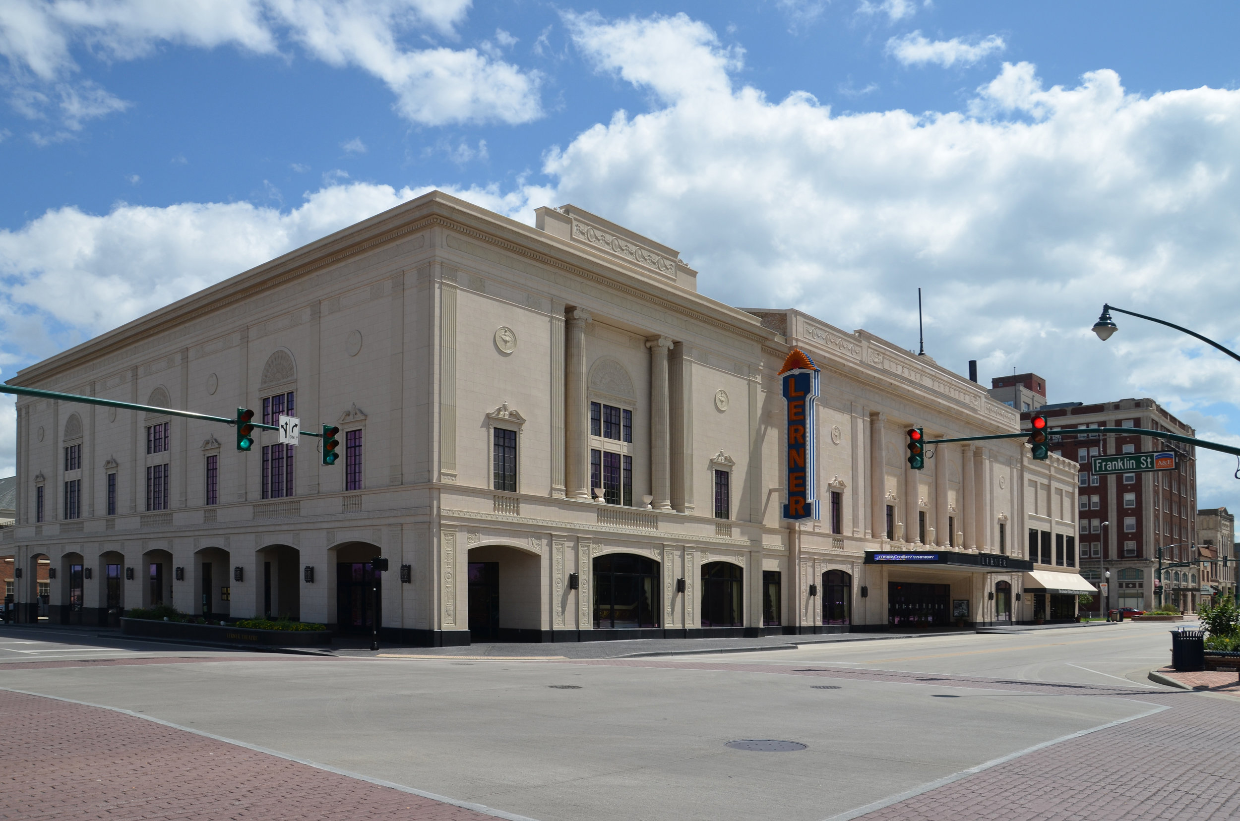 Completed Restoration of The Lerner Theater with addition of the Crystal Ballroom.