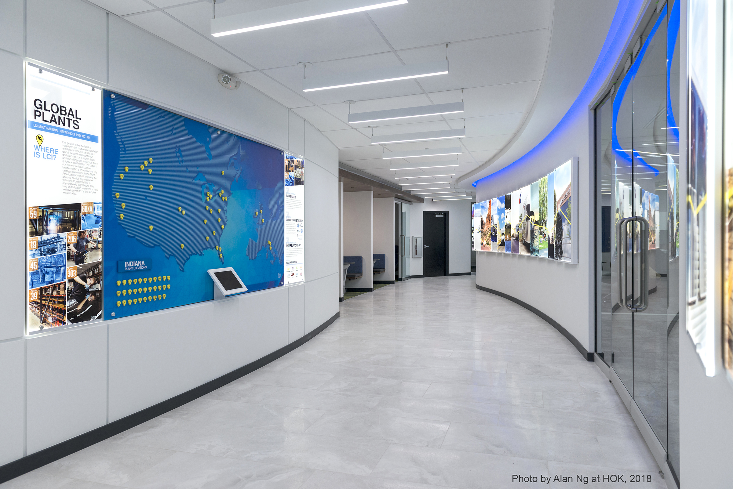 Lippert Components Corporate Office Hallway