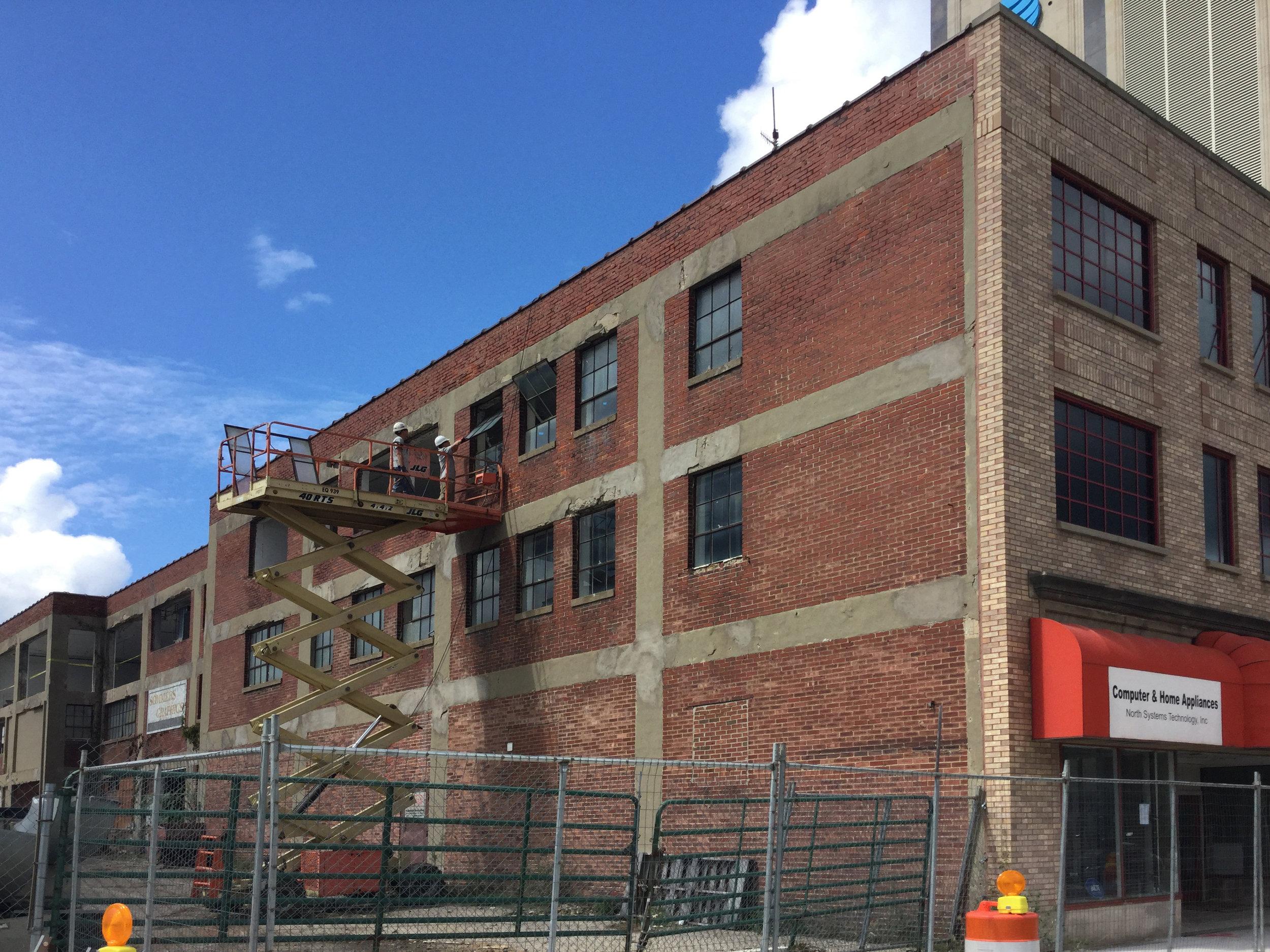 Renovation started on Hibberd Building.
