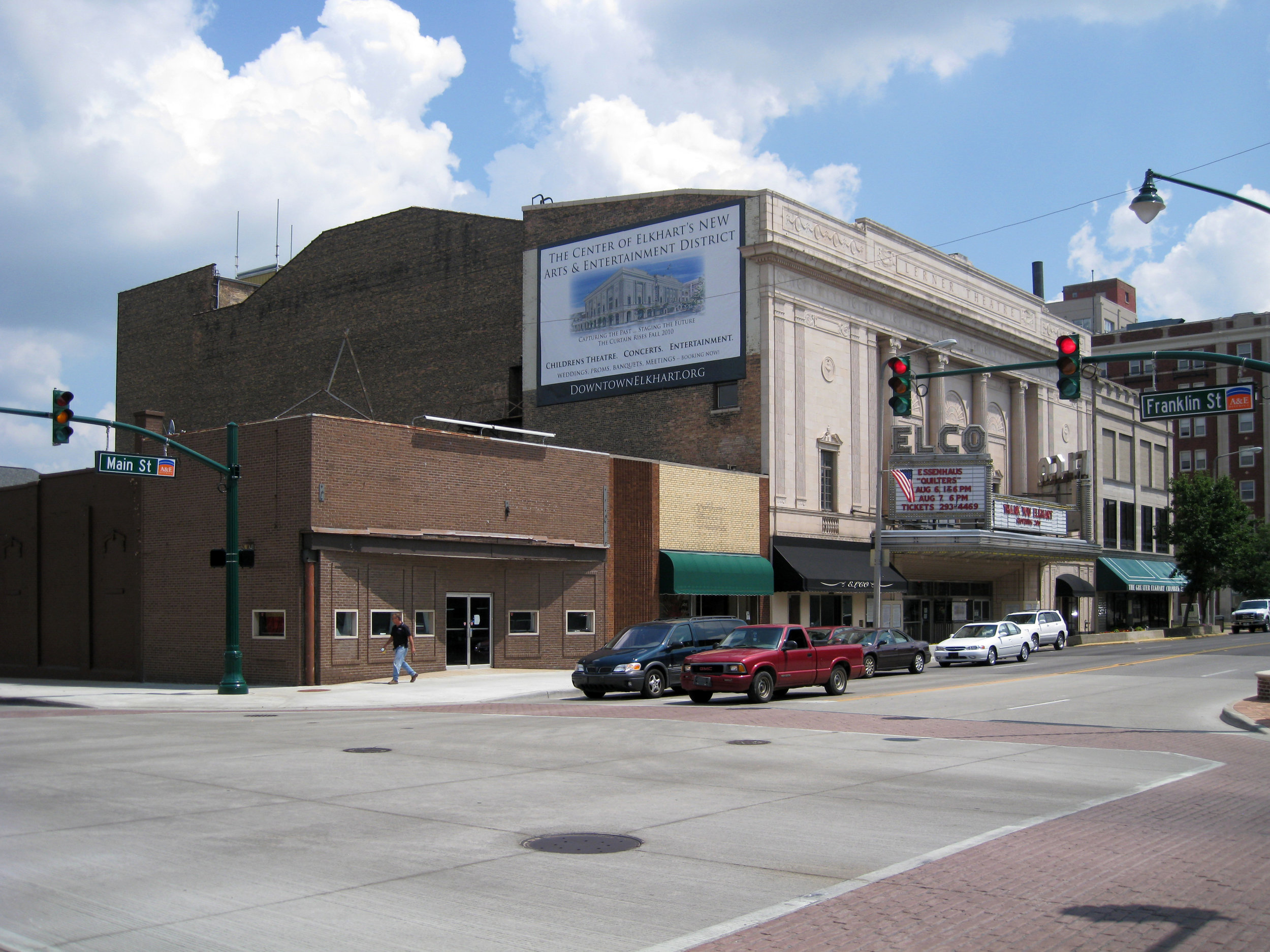 Lerner Theater before restoration of interior and addition of Crystal Ballroom.