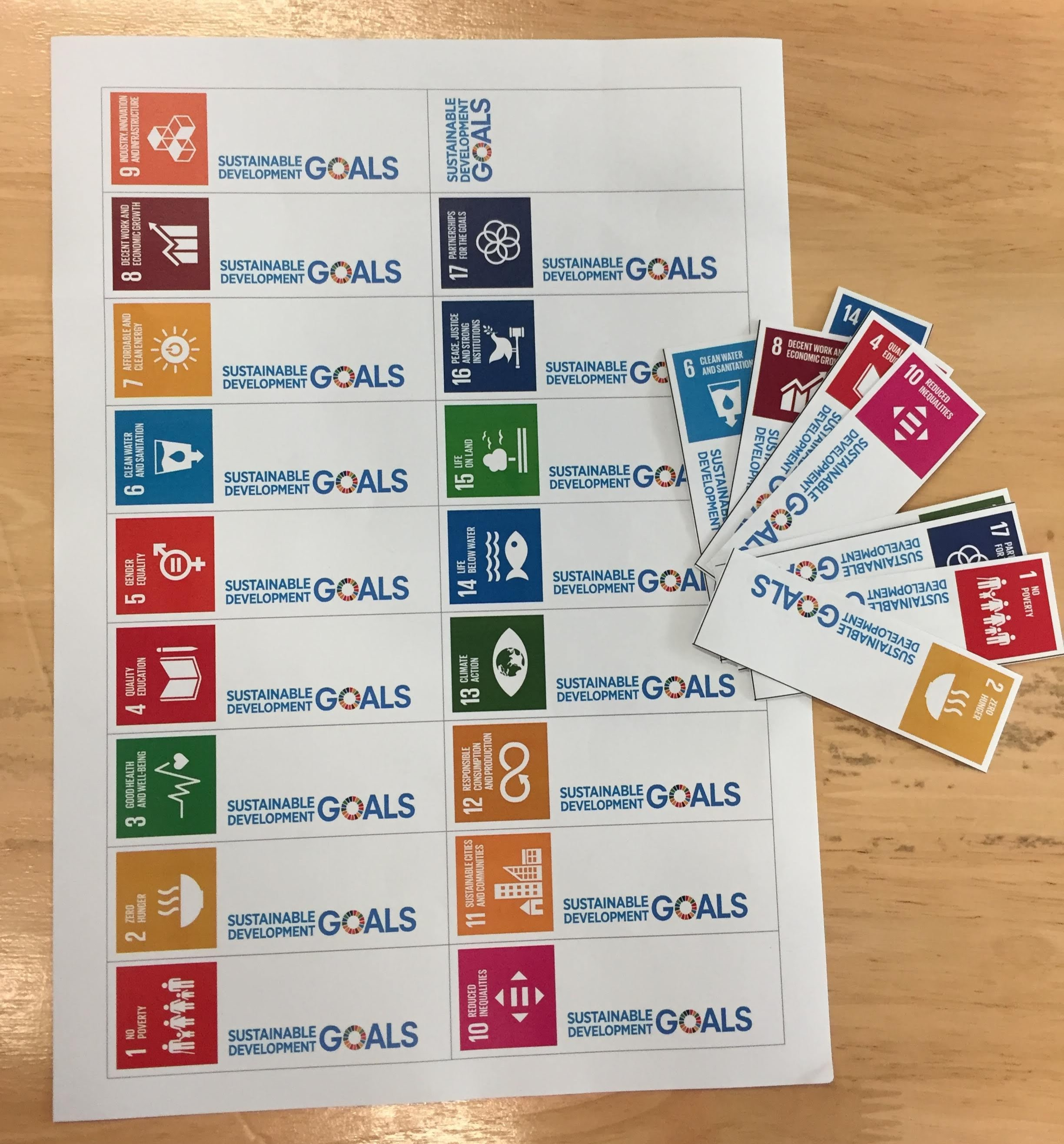 ( click here for a PDF of these printable SDG bookmarks )