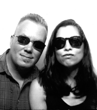 From a photo booth during one of our road trips.