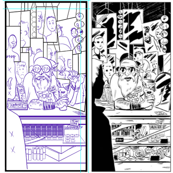 Pencils by me inks by Veronica for the latest BLACKWOOD series from Dark Horse.