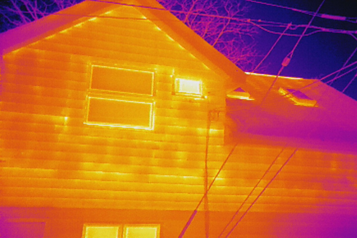 Heat Loss detected during a commercial property inspection using thermal imagery obtained from an EagleHawk drone operation
