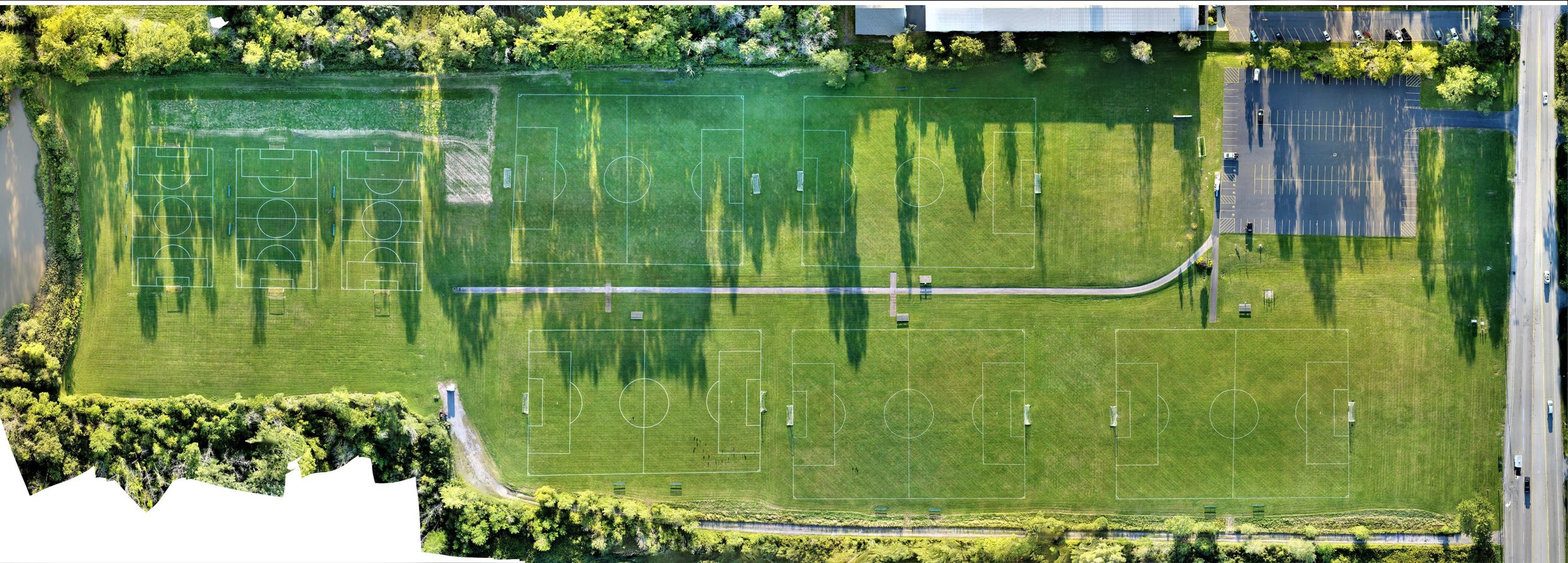 Top down view at North French Soccer Complex 9/5/19