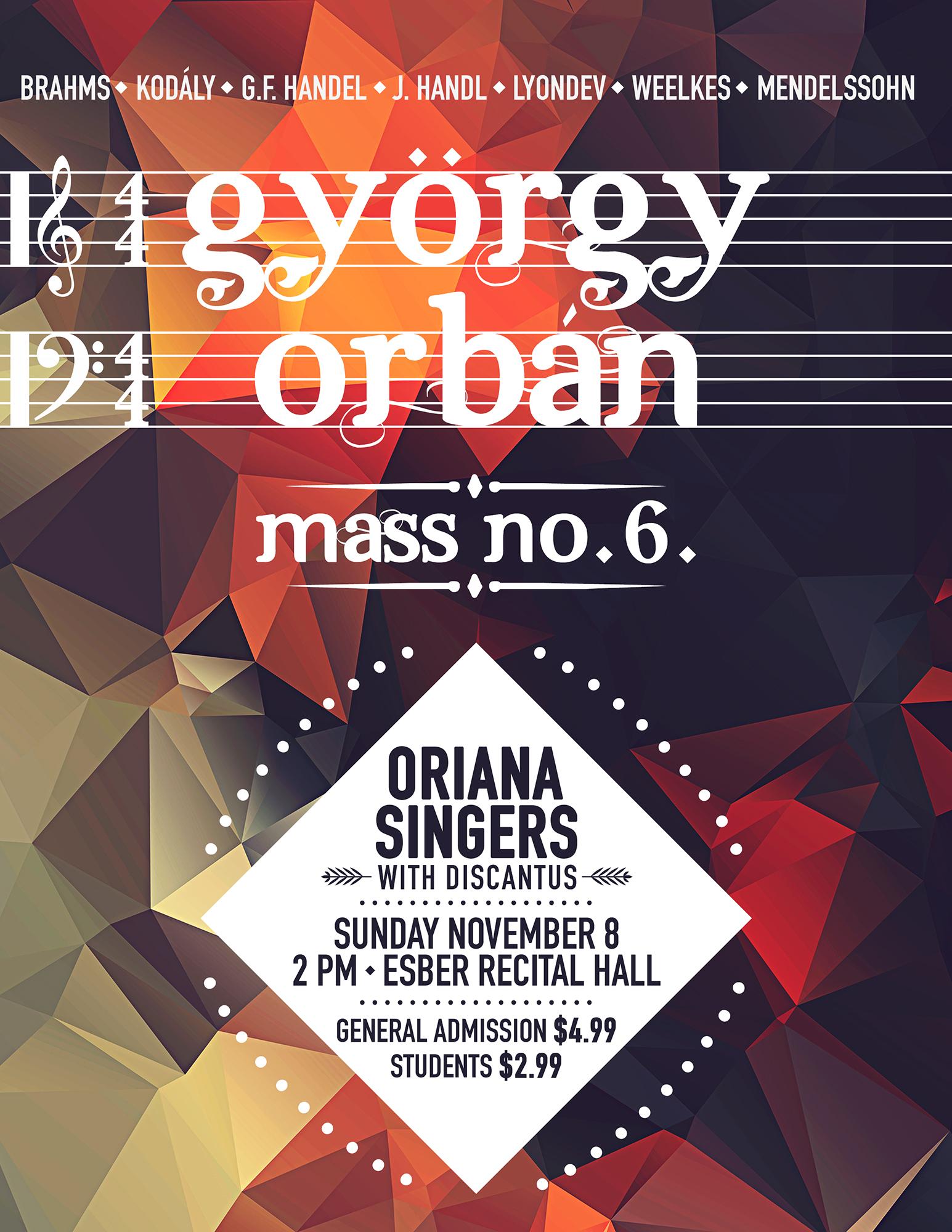 Poster design for a choir concert.