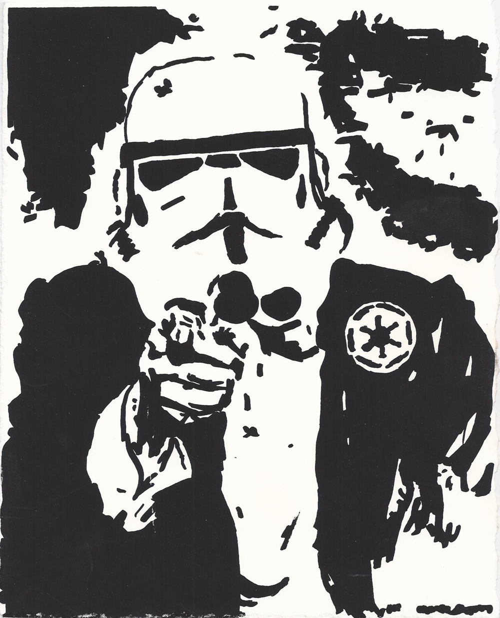 """""""Uncle Empire"""". Star Wars inspired screen print design."""