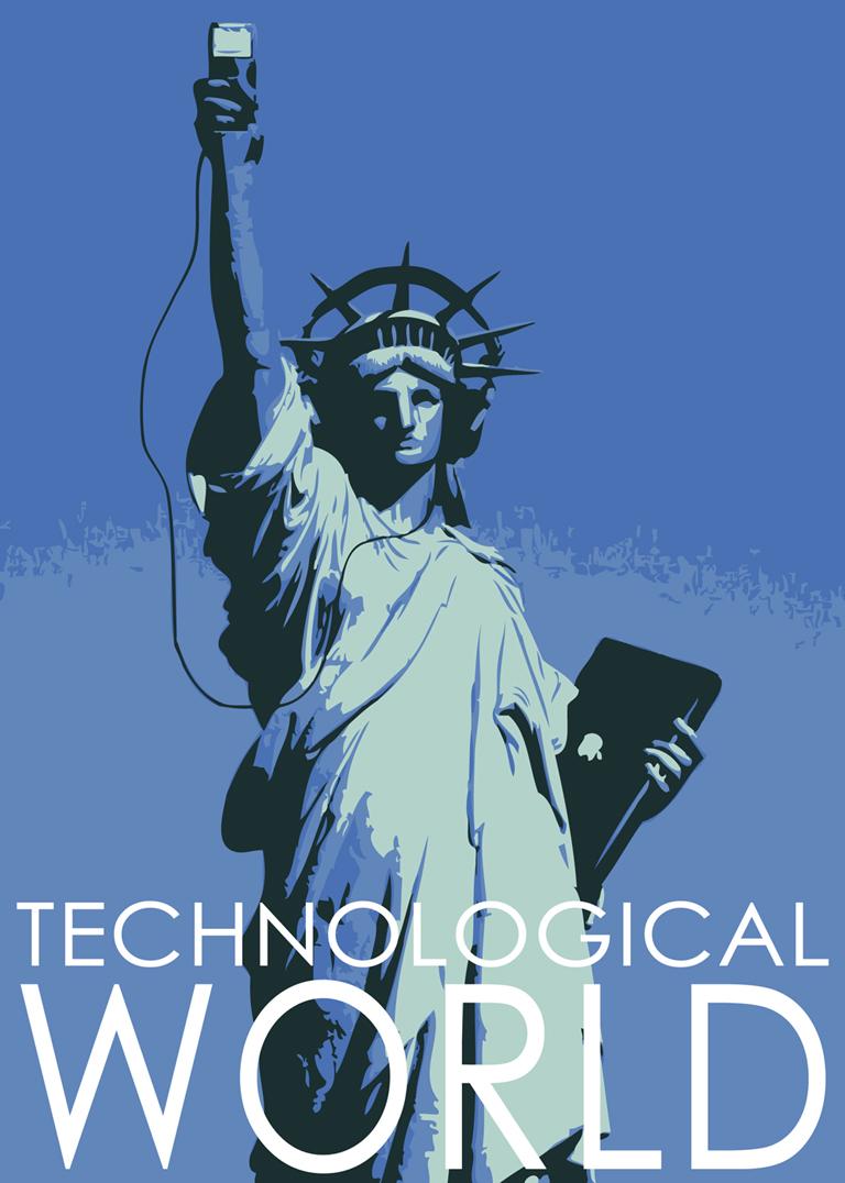 Poster design concept for a tech magazine.