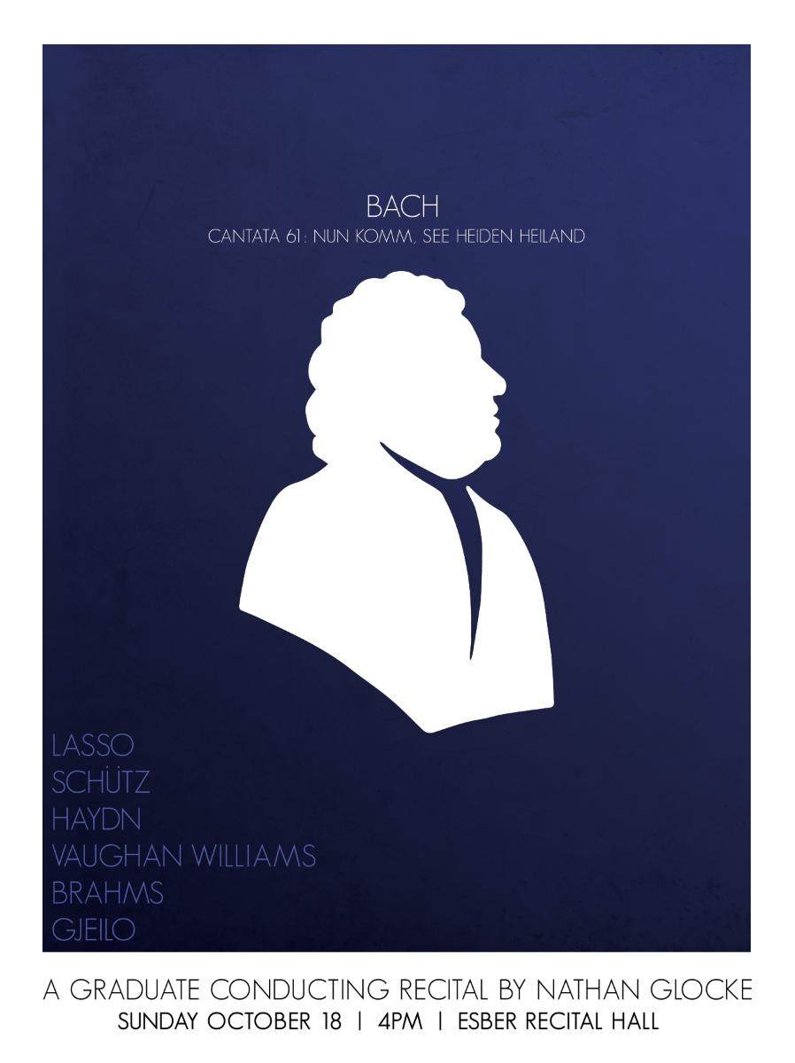 Poster design for a senior recital.