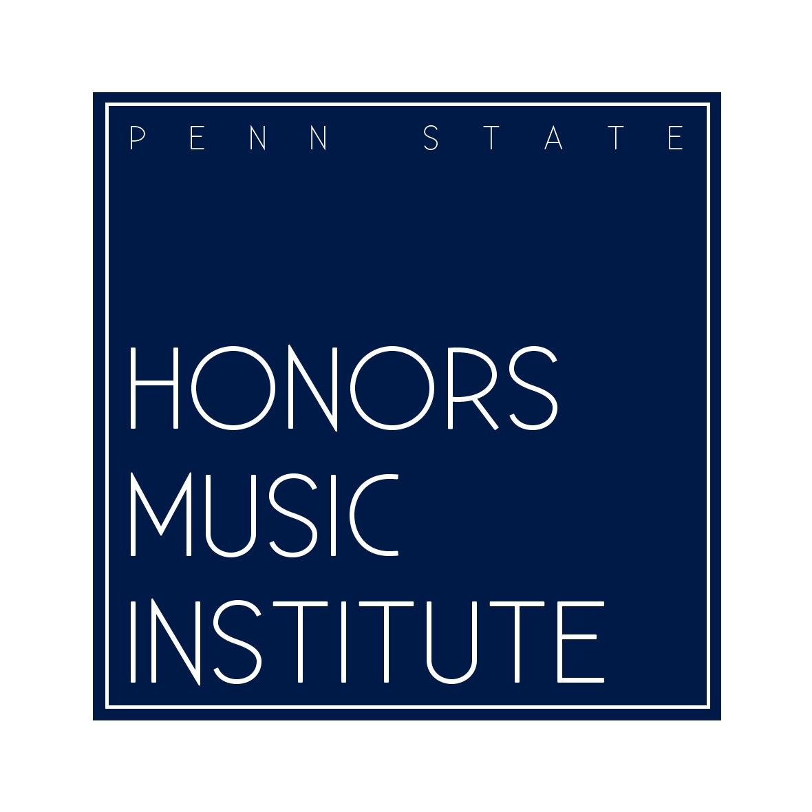 Logo design for Penn State's summer music program, Honors Music Institute.