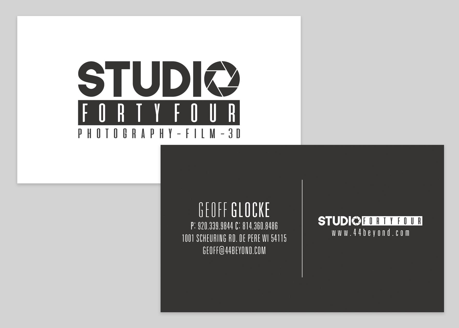 Studio 44 Business Card Design