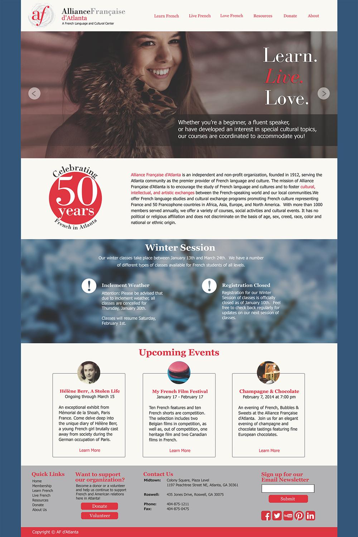 Website: Homepage Mockup