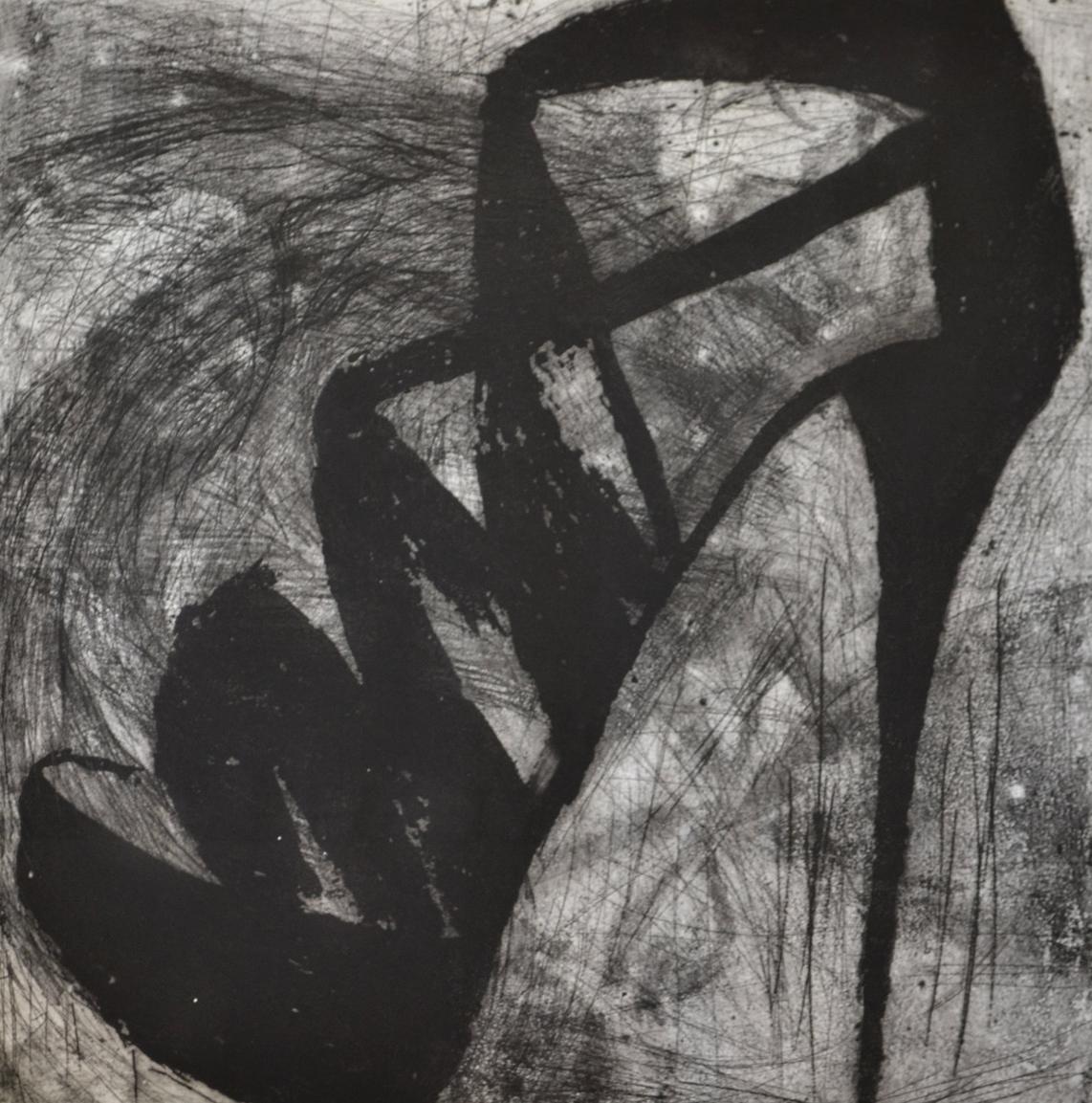 """Detroit Jackie, 31 x 30"""", Intaglio, 2012"""