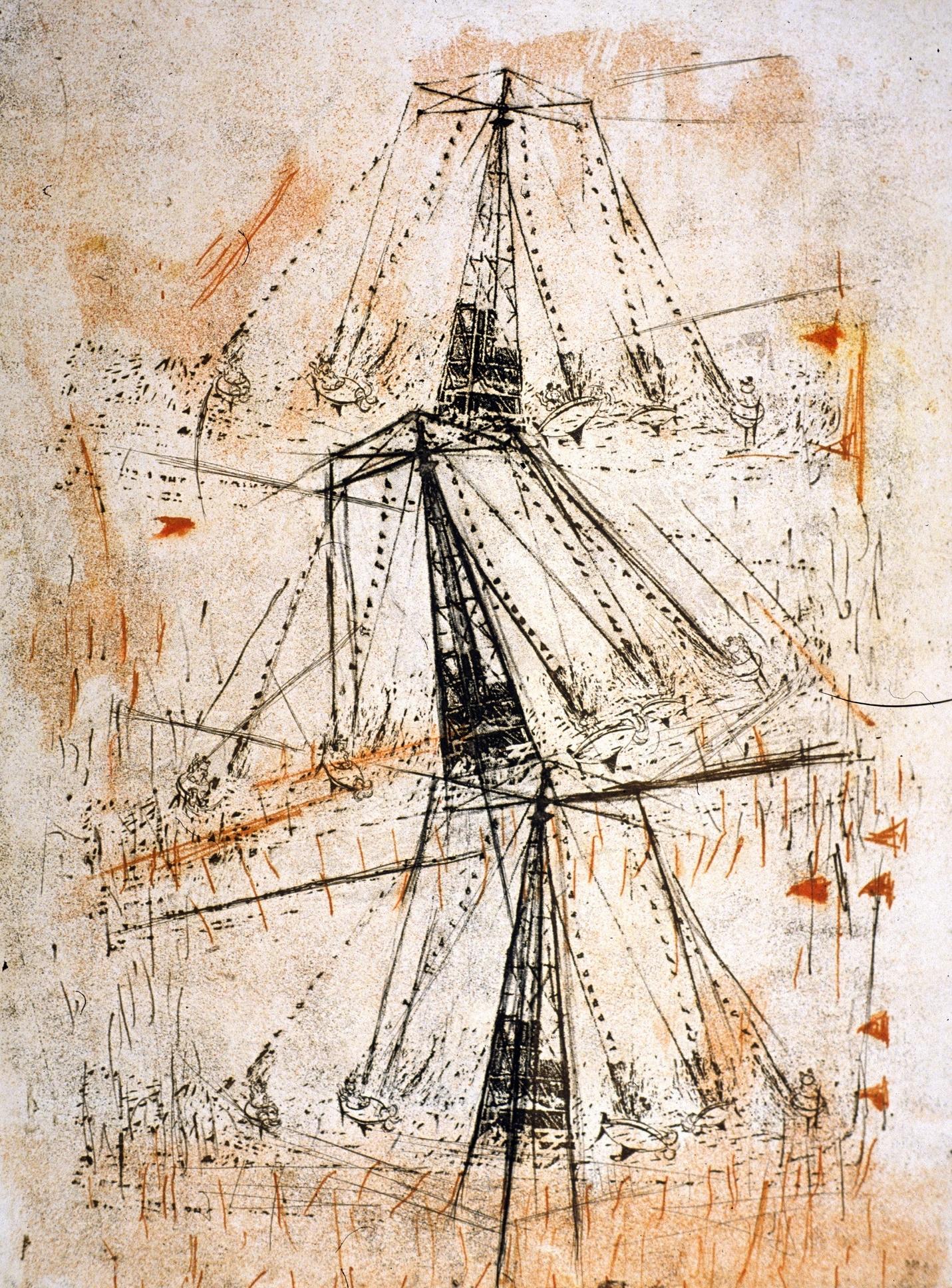 """Time Counter, 24 x 18"""", 2 Plate Intaglio, 2006"""