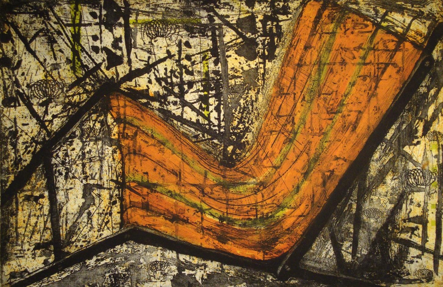 """2.5 Minute Ride I, 24 x 36"""", Intaglio, 2011"""