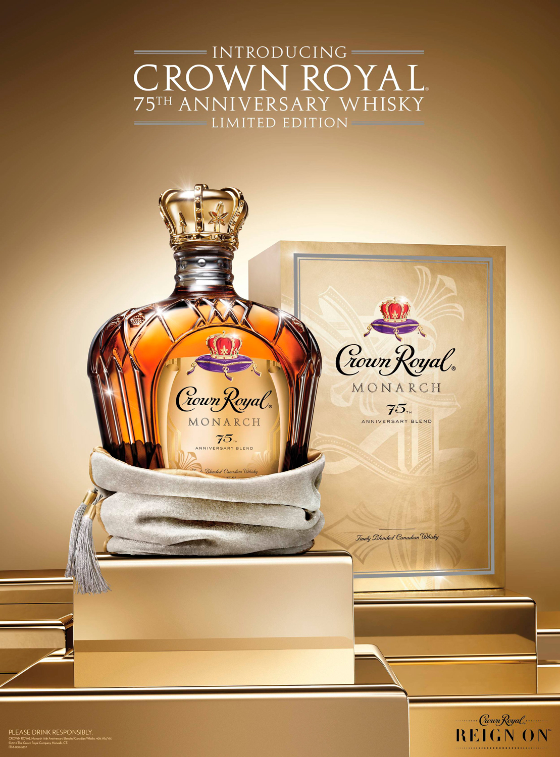 Launch creative for Crown Royal 75th Anniversary