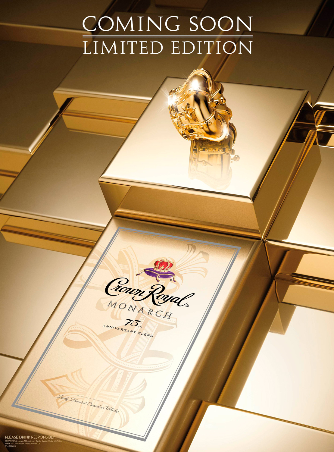 Coming Soon creative for Crown Royal 75th Anniversary